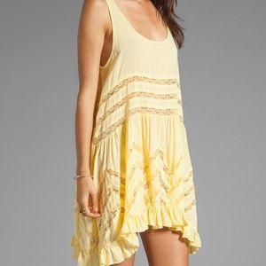 Intimately Free People yellow polka dot lace dress